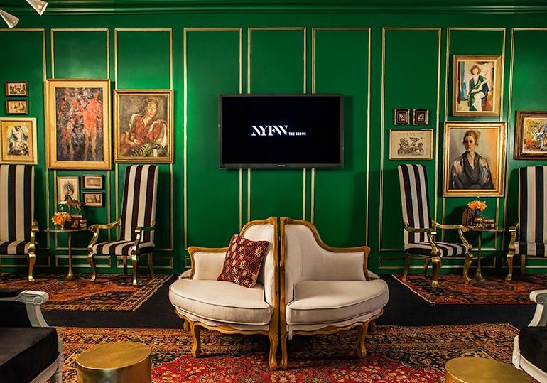The Opulent NYFW Lounge by Ken Fulk Stylish Furniture Ken Fulk NYFW Opulent Lounges by Ken Fulk The Opulent NYFW Lounge by Ken Fulk Stylish Furniture