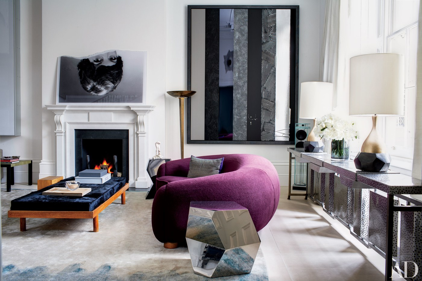 The Best British Interior Designers By AD 100 List – II Part Francis Sultana luxury living room