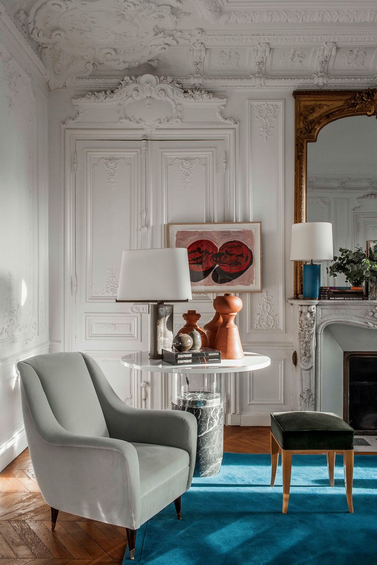 Chic French Interiors Honored By AD 100 List 2017 Laplace Paris Apartment Design