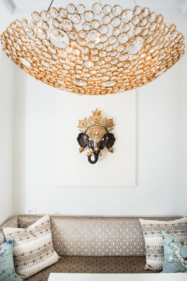 Luxury Apartment in NYC by Perianth featuring KOKET's Eternity Chandelier luxury apartment Metallic Accents in a Neutral Setting Make a Stunning Luxury Apartment 1