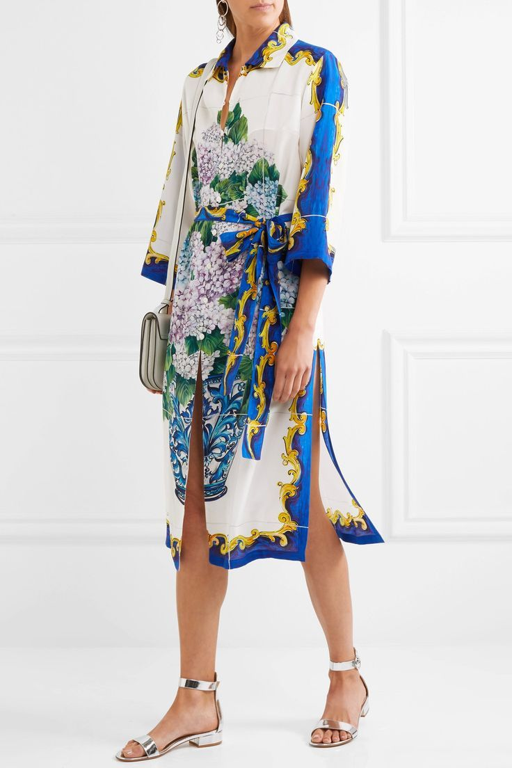 Dolce & Gabbana | Printed silk crepe de chine shirt dress, 4th of July 2017 outfit ideas by KOKET 4th of july outfit Chic 4th of July Outfit Ideas by KOKET 60fa7d013e3e25574b3b5e8f7942c8e0