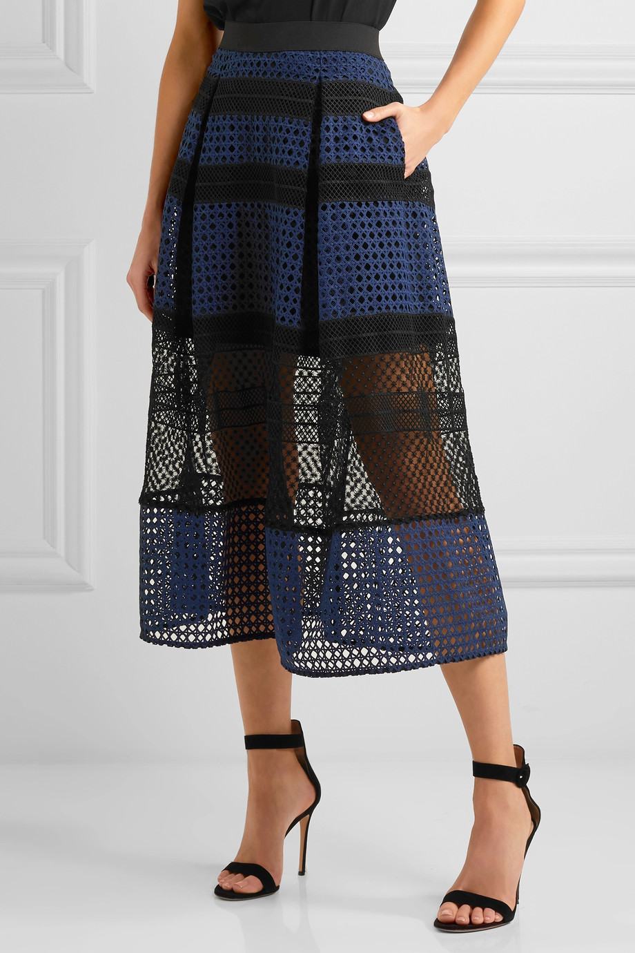 SELF-PORTRAIT Paneled guipure lace midi skirt, 4th of July 2017 outfit picks by KOKET 4th of july outfit Chic 4th of July Outfit Ideas by KOKET 889624 fr xl