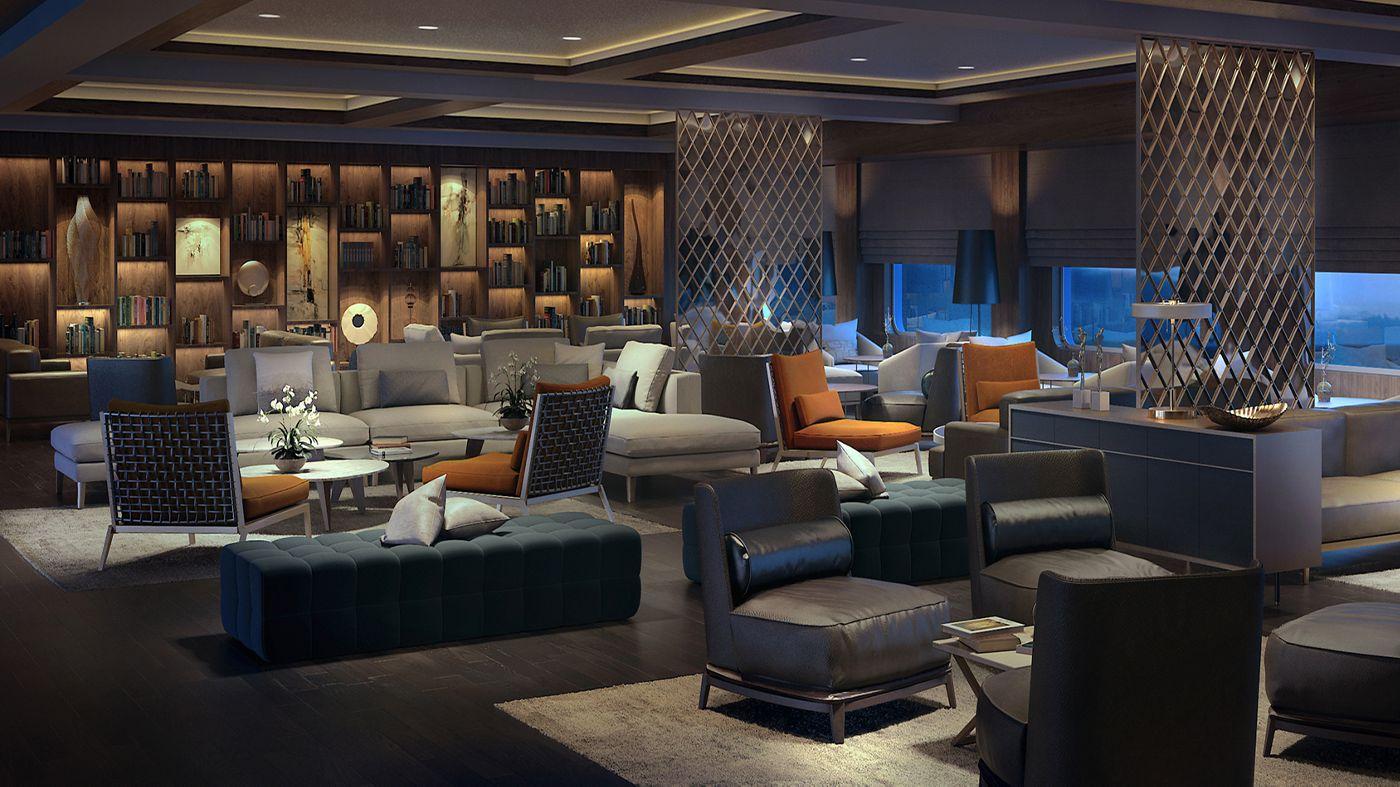 The Ritz-Carlton Yacht Collection Luxury Cruise Stunning Interiors Await on Ritz-Carlton's New Luxury Cruises Living Room1