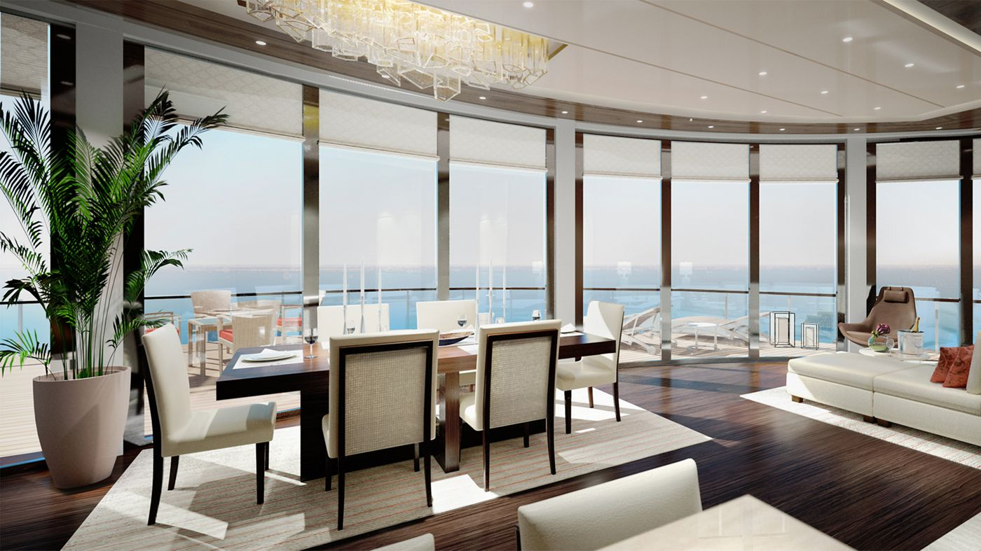 The Ritz-Carlton Yacht Collection Luxury Cruise Stunning Interiors Await on Ritz-Carlton's New Luxury Cruises Owners suite1