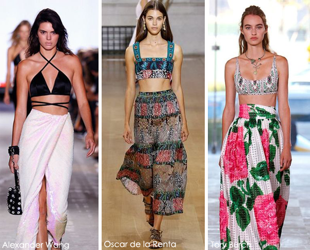 Summer 2017 Fashion Trends: Bra Tops - Oscer de la Renta - Tory Burch - Alexander Wang 2017 fashion trends 2017 Fashion Trends: Summer Is Here! Is Your Wardrobe Ready? bra tops