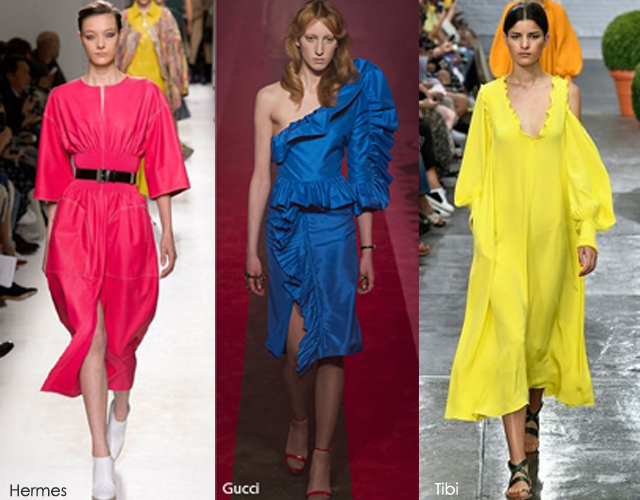 Summer 2017 Fashion Trends: Bright Saturated Colors - Gucci - Hermes - Tibi 2017 fashion trends 2017 Fashion Trends: Summer Is Here! Is Your Wardrobe Ready? bright colors