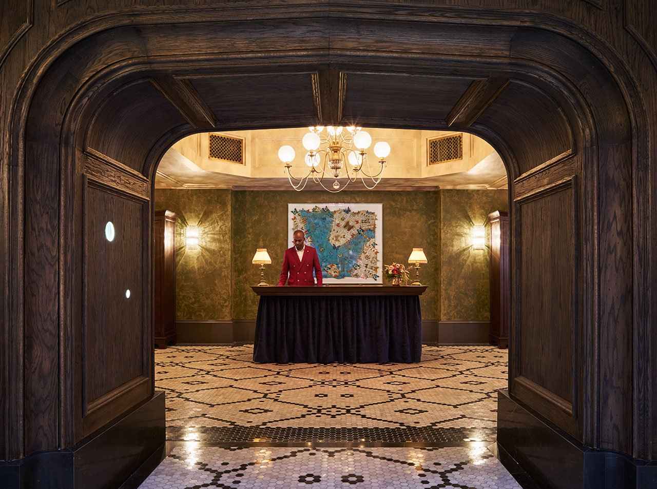 Manhattan Hotel: The_beekman_a_thompson_hotel_new_york_yatzer, Mandy stool by KOKET, luxury furniture manhattan hotel Historic NYC Building Revival Gives Rise to a Luxury Manhattan Hotel f5 the beekman a thompson hotel new york yatzer