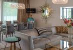 Elke Altenberger Interior Design - Apartment 1040 Vienna - Sunburst Mirror - Guilt Mirror by KOKET - Eclectic interior design - Glamorous Apartment