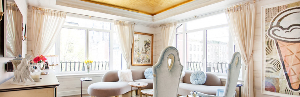 Glamorous Living Room by New York City Top Interior Desinger Sasha Bikoff