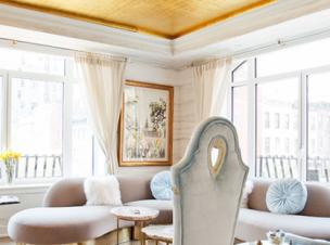 Glamorous Living Room by New York City Top Interior Desinger Sasha Bikoff