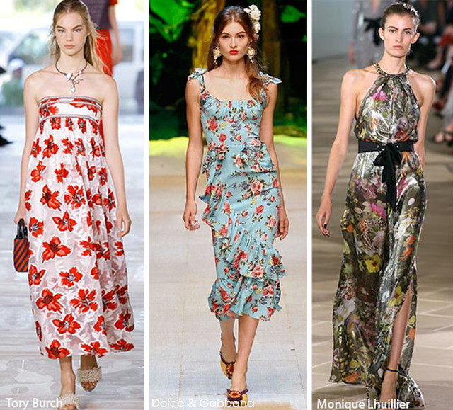 Summer 2017 Fashion Trends: Florals - Tory Burch - Dolce & Gabbana - Monique Lhuillier 2017 fashion trends 2017 Fashion Trends: Summer Is Here! Is Your Wardrobe Ready? florals