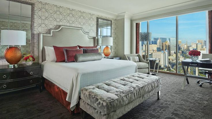 Boutique Hotels in Las Vegas: Four Seasons, luxury bedroom furniture, koket, upholstered benches