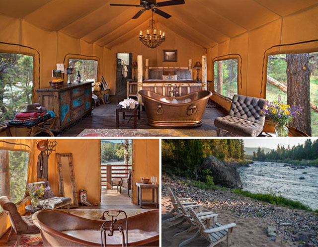 all inclusive luxury resort in Montana. Paws Up. Glamping. all inclusive luxury resort 6 Wildly All Inclusive Luxury Resorts in the USA glamping honeymoon 02