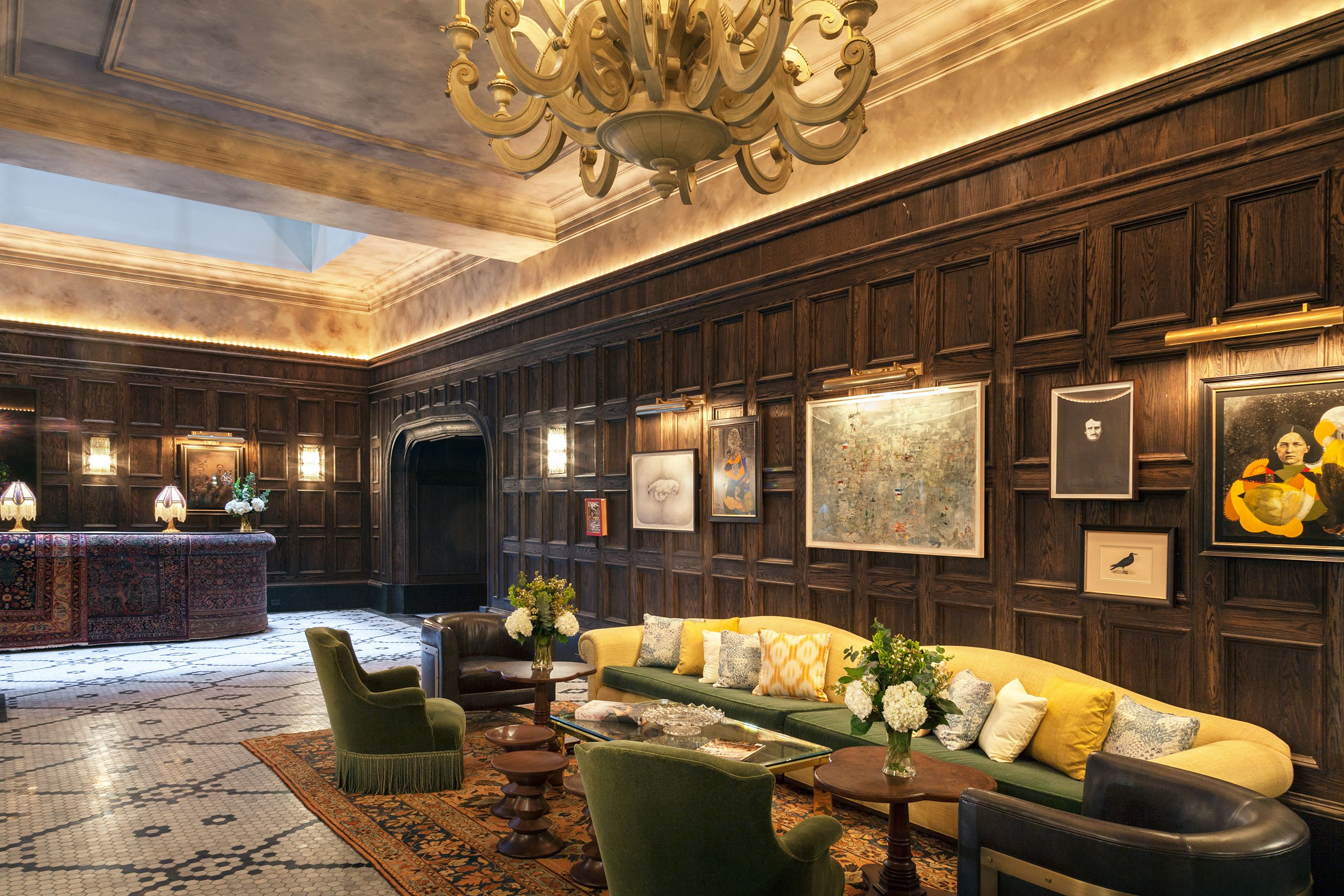Manhattan Hotel: The_beekman_a_thompson_hotel_new_york_yatzer_martin brudnizki, mandy stool by koket, luxury furniture manhattan hotel Historic NYC Building Revival Gives Rise to a Luxury Manhattan Hotel p5 the beekman a thompson hotel new york yatzer