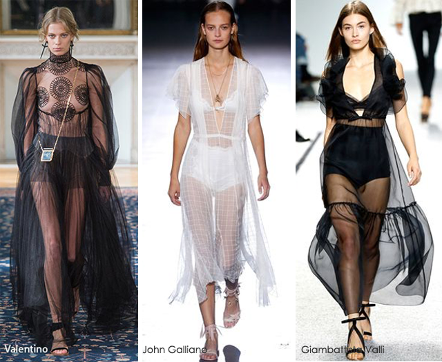 Summer 2017 Fashion Trends: Sheer - Valentino - John Galliano - Giambattista Valli 2017 fashion trends 2017 Fashion Trends: Summer Is Here! Is Your Wardrobe Ready? sheer
