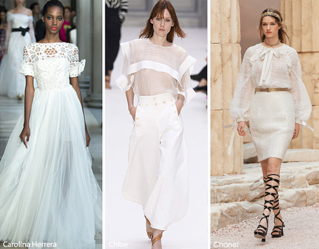 Summer 2017 Fashion Trends: Whites - Chanel - Carolina Herrera - Chloe 2017 fashion trends 2017 Fashion Trends: Summer Is Here! Is Your Wardrobe Ready? whites