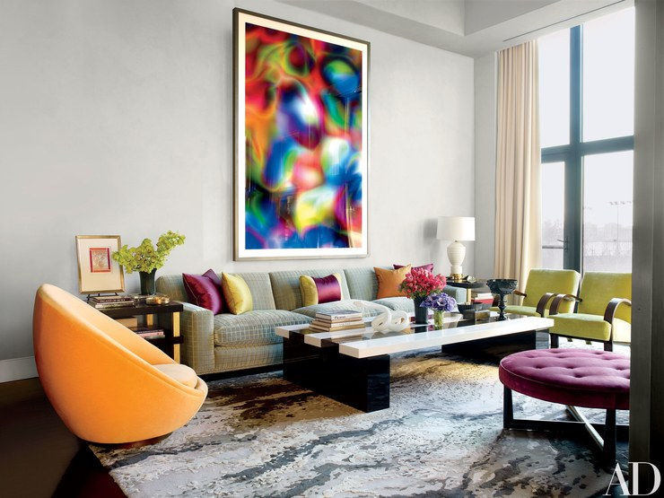 Drake/Anderson Living Room, Colorful Living Room Design Jamie Drake Itu0027s  All About The Part 56