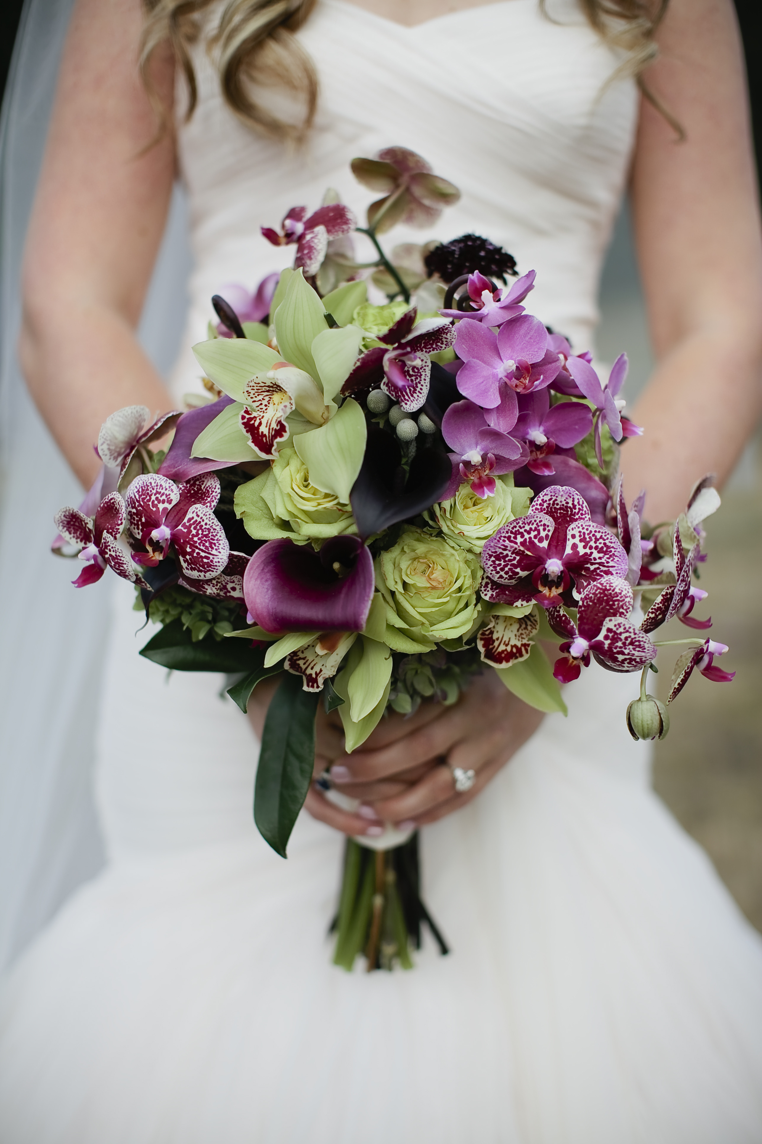 wedding bouquets, bridal, green and purple orchids orchid bouquet 10 Amazing Orchid Bouquets 1baa30dc37e88d64ac644465fd10249b