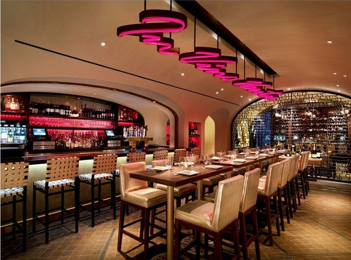 La Cave at Wynn Las Vegas - Interior design by Karen Herold, 555 International, Studio K, best hospitality designers, best las vegas restaurants