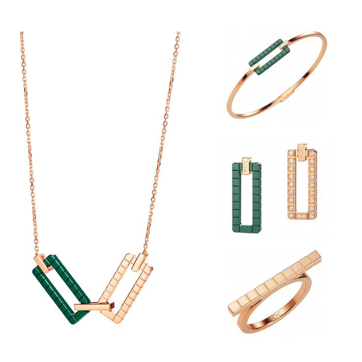 Rihanna Loves Chopard Joaillerie Collection - rose gold, green ceramic, diamonds, high-design jewelry, bracelets, earrings, rings, necklaces, rihanna fashion, geometric modern jewelry