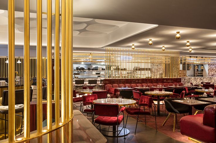 Le Drugstore designed by Tom Dixon, best restaurants in Paris, upholstered chairs, luxury furniture, polished brass best restaurants in paris Best Restaurants in Paris: Tom Dixon's Renovation of Le Drugstore 3922f95ed9e75b1cc8d4c978a3cb6cc3
