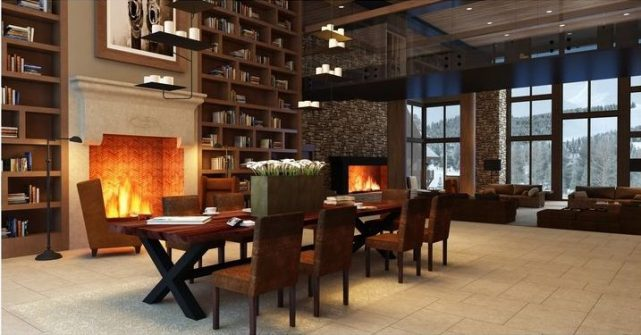 Fairmont Hotel Breckenridge, CO - Interior design by Karen Herold, hotel lobby design, best hospitality designers