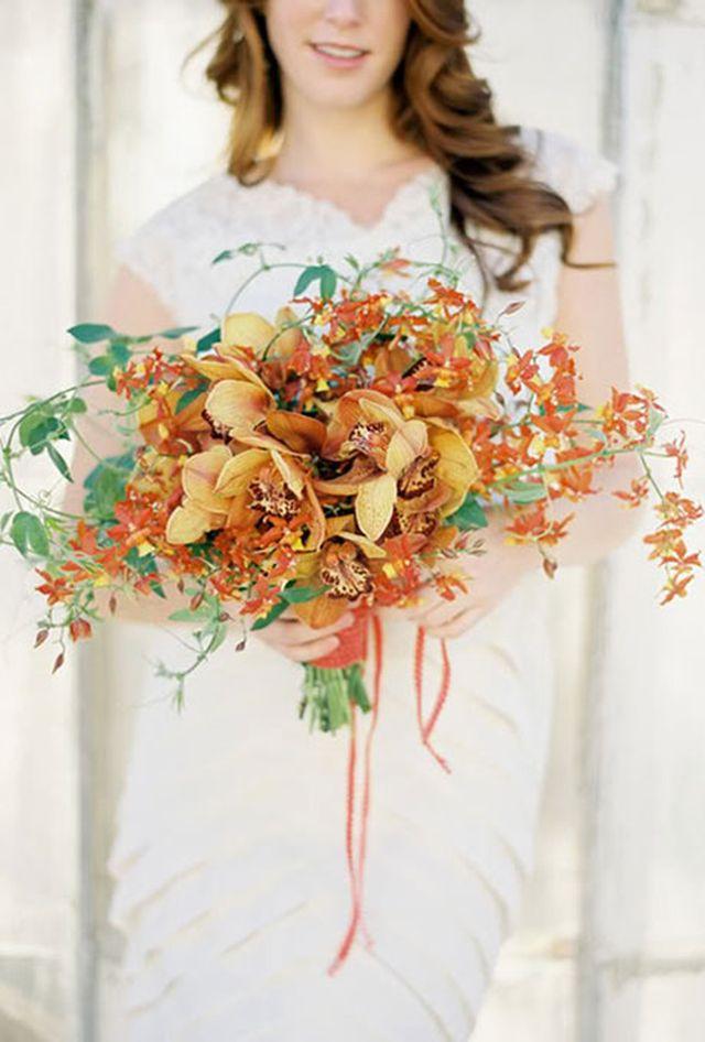 Orchid Bouquets, wedding, bridal, orange orchids orchid bouquet 10 Amazing Orchid Bouquets 48e1e921011ab07d0511b8ad68ecdb16