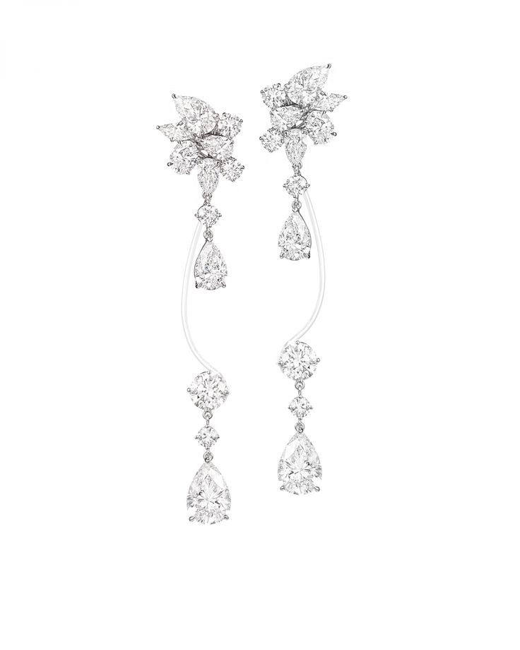 Rihanna Loves Chopard Haute Joaillerie Collection Earclips - White gold and diamond earclips - high design jewelry by rihanna and chopard