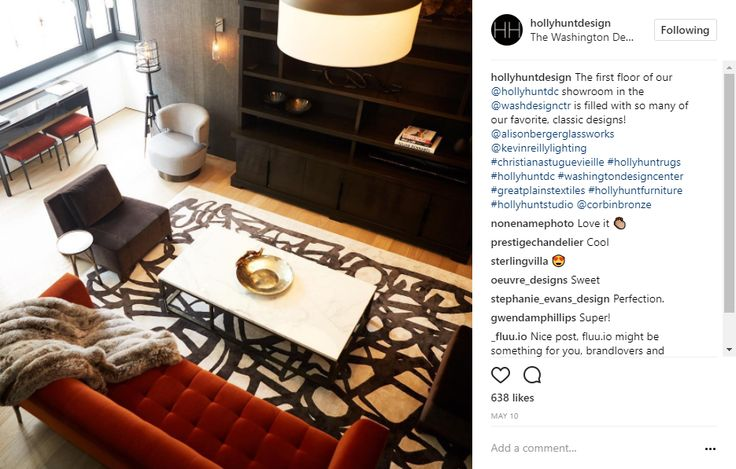 Holly Hunt DC Showroom at the Washington Design Center, Holly Hunt Design, classic designs, alison berger glassworks, kevin reilly lighting, christian astuguevieille, holly hunt rugs, corbin bronze, koket interior design instagram 10 Popular Interior Design Instagram Inspirations 9786fa05fbff35a1195a7ac9ac182ad4