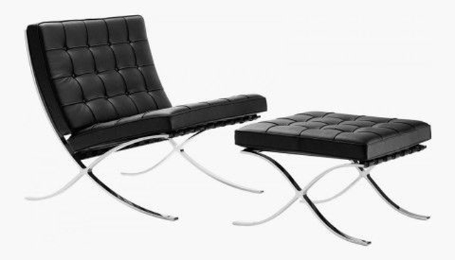 Barcelona Chair by Mies van der Rohe, c. 1929, antique chair, collectors item chair and ottoman, leather chair and ottoman luxury furniture Can Luxury Furniture Be as Good of An Investment as Traditional Art? Barcelona Chair by Mies van der Rohe c