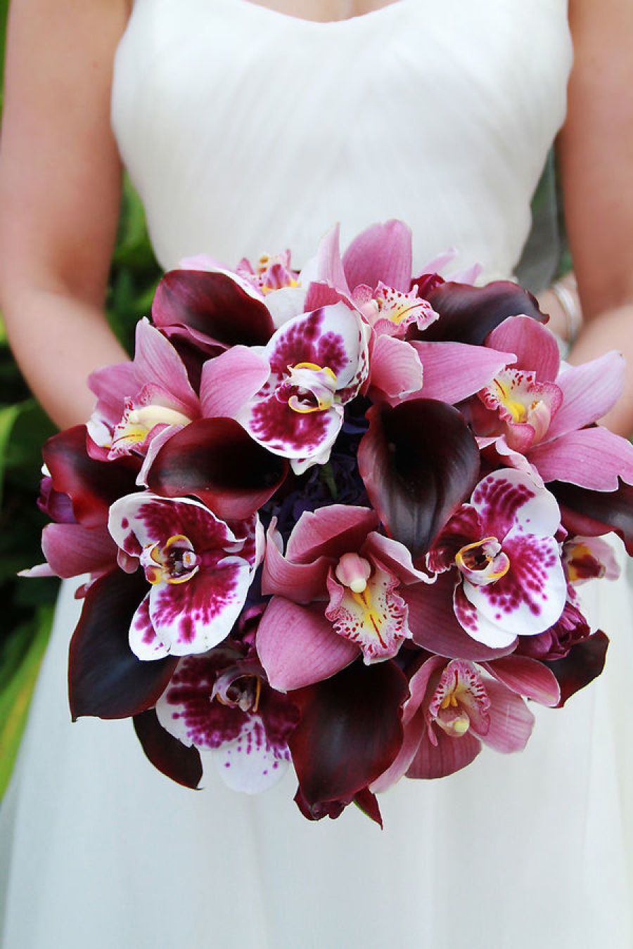wedding bouquets, bridal, purple and pink orchids orchid bouquet 10 Amazing Orchid Bouquets Brian Kate resized45900x