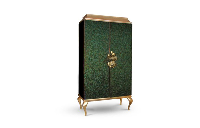 Divine Armoire by KOKET, luxury furniture, feathered armoire, cabinet luxury furniture Can Luxury Furniture Be as Good of An Investment as Traditional Art? Divine Armoire by KOKET