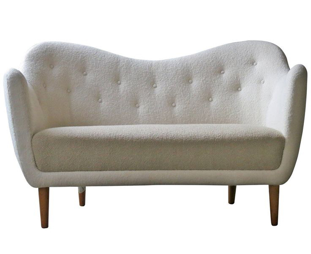 Elegant Curved Sofa with Teak Legs by Finn Juhl c. 1948, antique sofa luxury furniture Can Luxury Furniture Be as Good of An Investment as Traditional Art? Elegant Curved Sofa with Teak Legs by Finn Juhl c