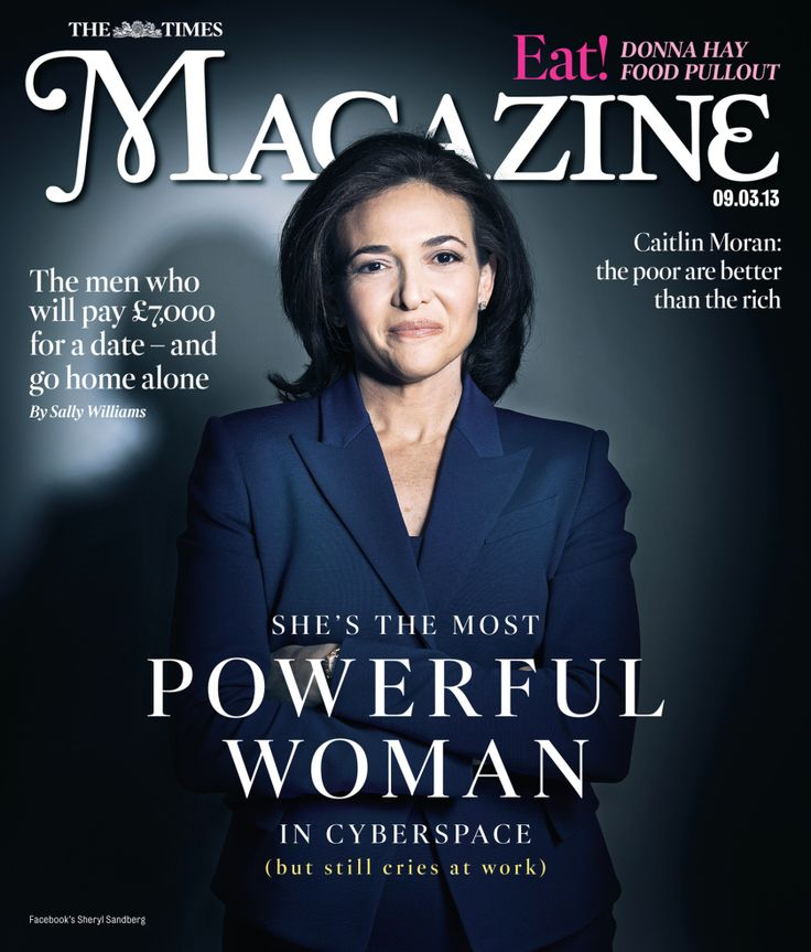 Facebook's Sheryl Sandberg - The Times Magazine Cover - Women Empowerment