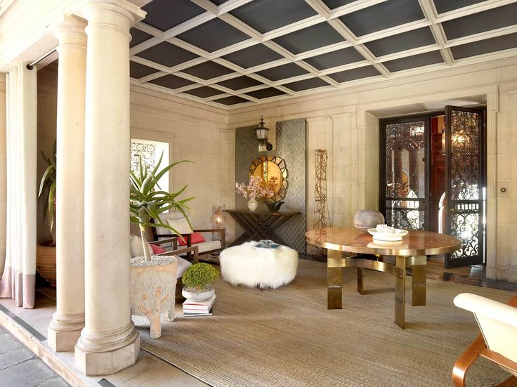 Top Interior Designers in LA - Masion Luxe Showhouse - Greystone Mansion — Natasha Baradaran, luxury furniture, curva collection, greystone mansion porte cochere