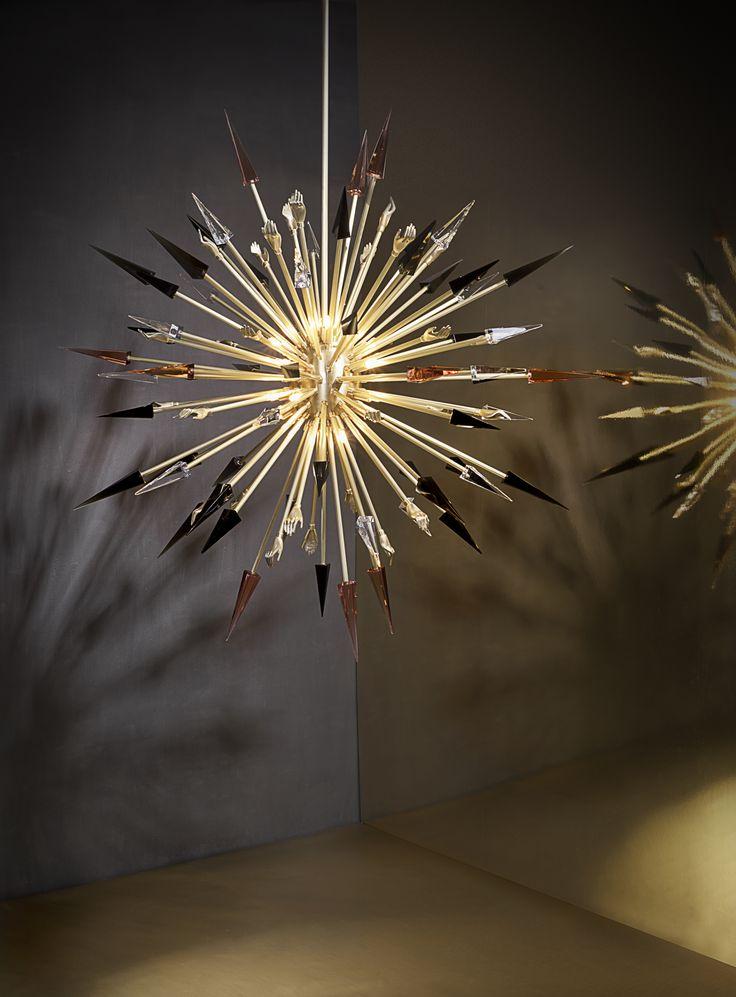 Koket's most popular designs - Outburst Chandelier by KOKET - Polished brass chandelier, gold chandelier, cut crystal chandelier, sunburst chandelier koket's most popular designs 12 of KOKET's Most Popular Designs Outburst Chandelier by KOKET Polished brass chandelier gold chandelier cut crystal chandelier sunburt chandelier