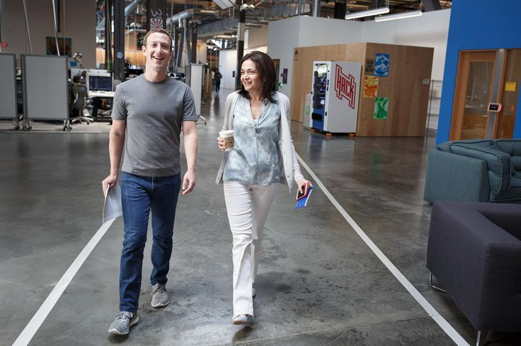 Sheryl Sandberg and Mark Zuckerberg of Facebook - Women Empowerment - Women in the Workplace - Gender Equality in the Workplace - Feminisim