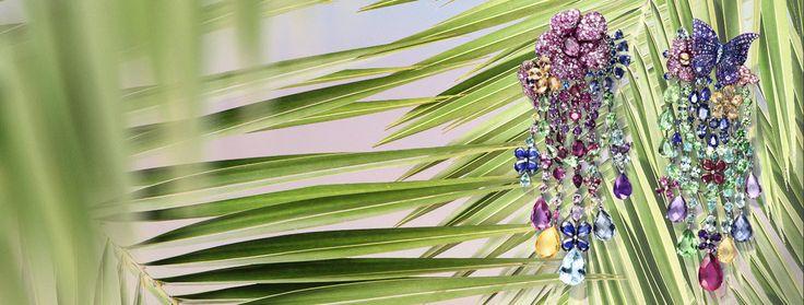 Rihanna Loves Chopard Joaillerie Earrings - Grammys 2017 - Joaillerie Earrings - 59th grammy awards rihanna jewelry - colorful chandelier earrings - multi-colored earrings