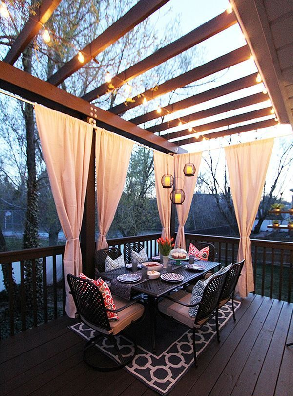 Outdoor Entertaining Ideas: Outdoor Dining, outdoor drapery, outdoor luxury furniture outdoor entertaining area 12 Fabulous Outdoor Entertaining Areas c18d5c3447c8f4104b187c4fd8ee9916 backyard decks outdoor patios e1499184087229