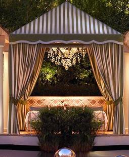 Costa di Mare at Wynn Las Vegas, cabana dining, private cabanas restaurant