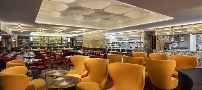 Le Drugstore Lounge Designed by Tom Dixon, Tom Dixon Micro Wingback Chairs, best restaurants in paris