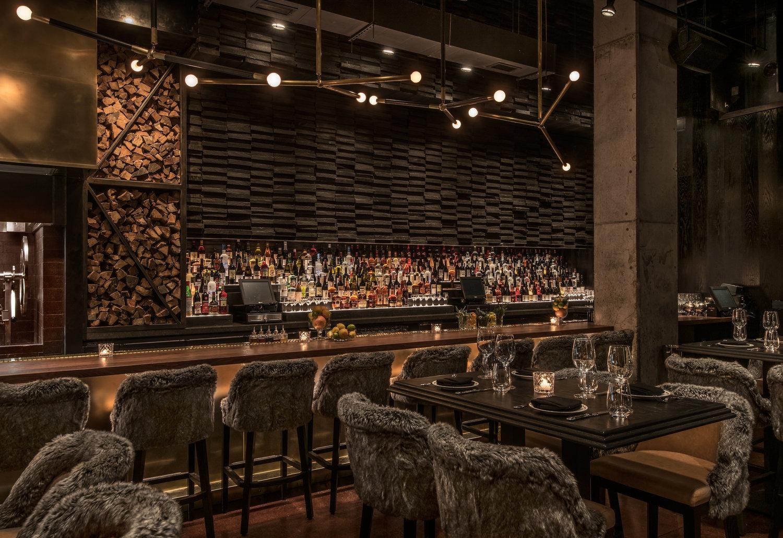 GT Prime Chicago - Interior design by Studio K, Karen Herold, best restaurants in chicago, top restaurant designers, fur upholstery, koket soft goods