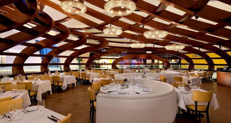 Best restaurants in las vegas, Mastro's Ocean Club Restaurant Crystals at City Center Las Vegas, best steaks in las vegas, tree house restaurant design