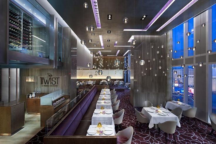 Best restaurants in las vegas, Twist by Pierre Gagnaire at the Mandarin Oriental, Las Vegas, best restaurant design las vegas