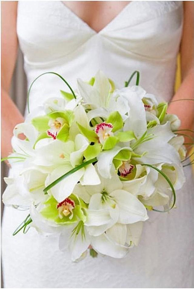 wedding bouquets, bridal, white and green orchids orchid bouquet 10 Amazing Orchid Bouquets weddings bride bouquet