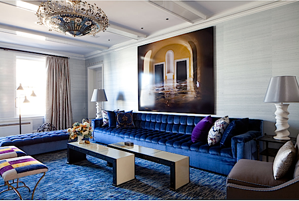 Top NYC Interior Designers - Amanda Nisbet Design - Blue living room design - luxury furniture