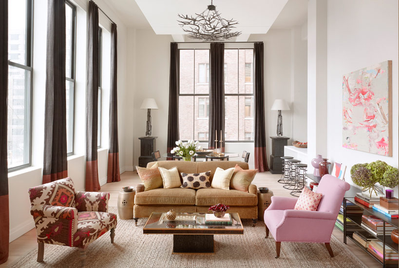 Top NYC Interior Designers - Carrier and Company - Printing House - Jessie Carrier and Marra Miller - living room design - AD100