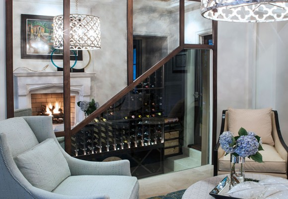 Cool & Calm Tones with Cuban Roots - by B. Pila - Wine Storage Ideas - Rooms designed for entertaining - Top Interior Designers top interior designers Top Interior Designers: B. Pila and Design Enlightenment Cool Calm Tones with Cuban Roots by B