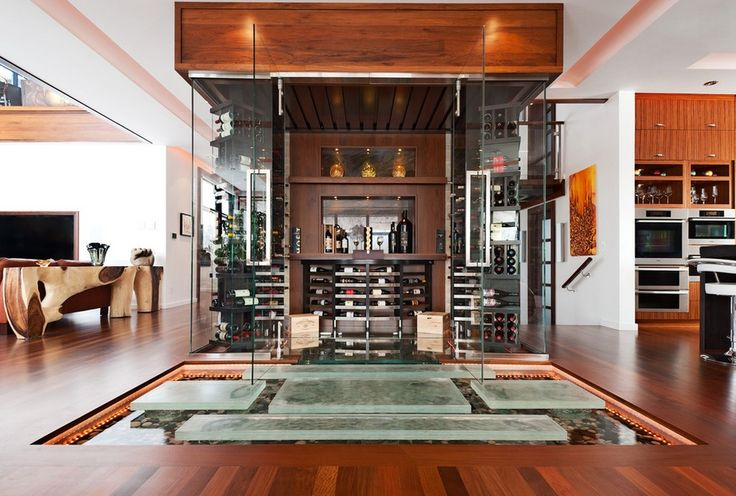 David-Giral-Photo-Rich-wooden-living-with-glass-wine-cellar-glass-wine-room-design, luxury furniture