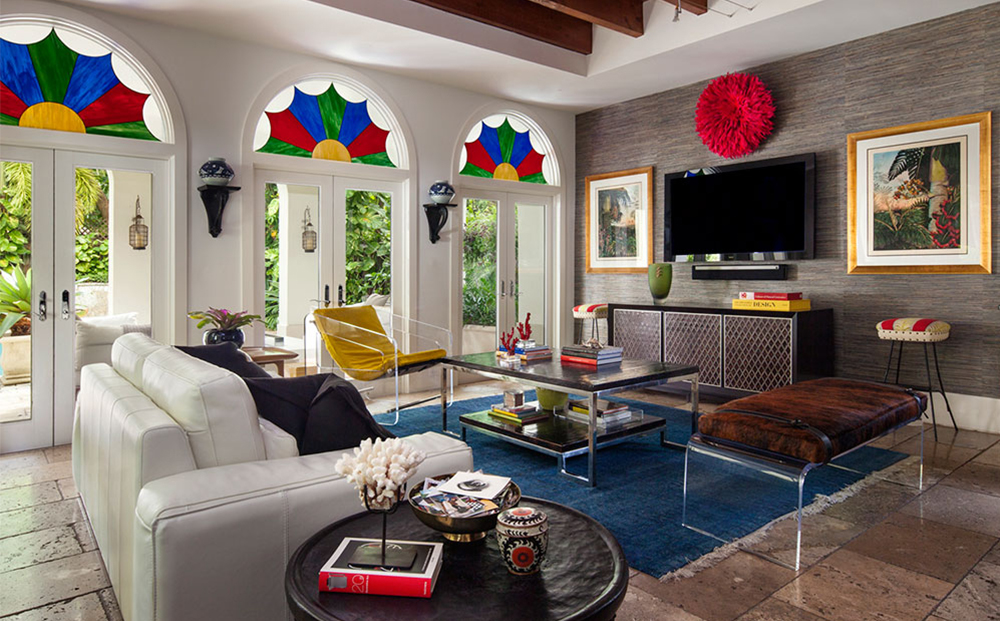 Eclectic, Artistic, Colorful - Home of Bea Pila-Gonzalez - B. Pila Design Studio - Top Interior Designers - Acrylic Lounge Chair - Acrylic Bench - luxury furniture - b. pila furniture - bespoke